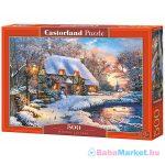 Téli házikó 500 darabos puzzle