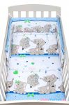 2-részes ágyneműhuzat New Baby 90/120 cm kék elefántos