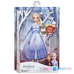 Disney hercegnők: Jégvarázs 2 angolul éneklő Elza baba - 28 cm