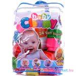 Clemmy Baby - 24 db-os építőkocka készlet