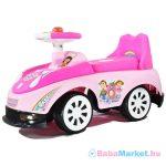 Zenélő és világító versenyautó bébitaxi - rózsaszín