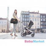 Badabulle - pelenkázó táska - multipocket fekete B043021