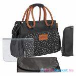 Pelenkázó táska - Badabulle BOHO fekete B043026