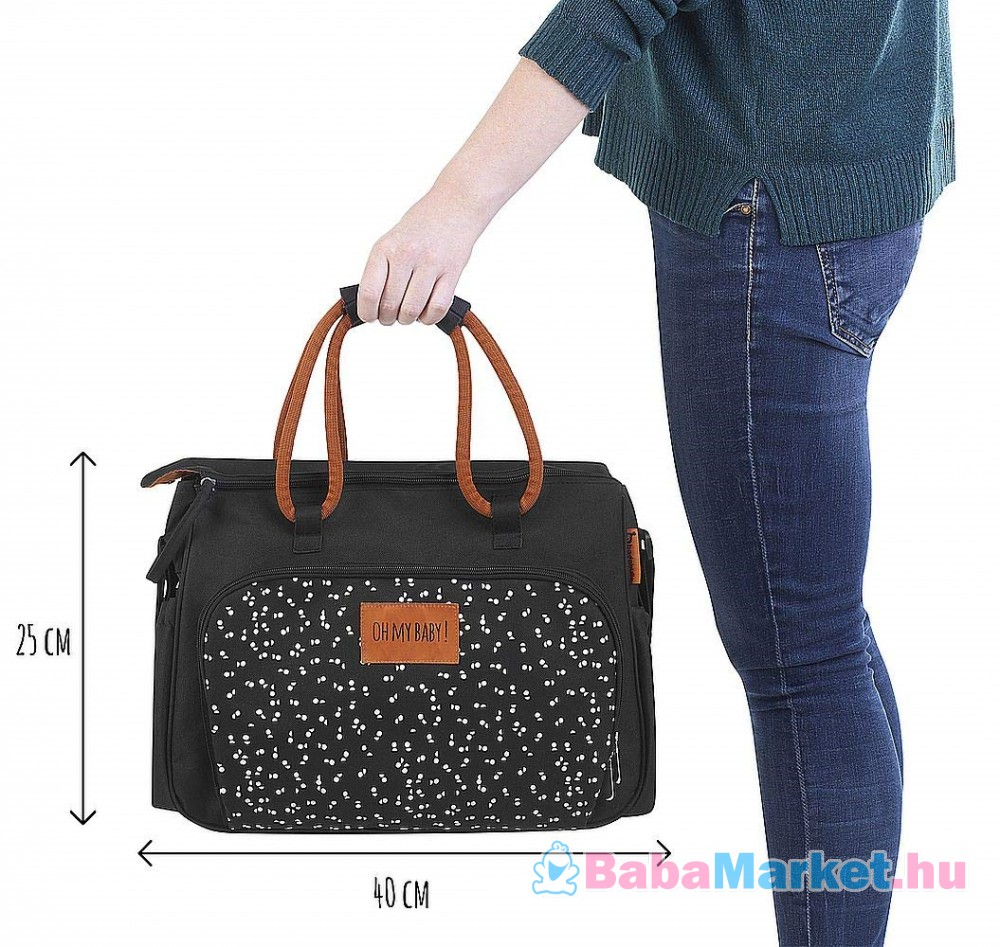 Pelenkázó táska Badabulle BOHO fekete B043026