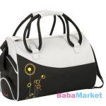 pelenkázó táska - fekete fehér Badabulle