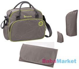 pelenkázó táska - badabulle szürke zöld