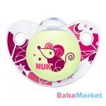 NUK cumi - Night & Day szilikon játszócumi 18-36 hó rózsaszín