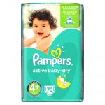 Pampers Active Baby -Dry pelenka maxi plus 70-db-os 4 plus