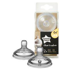 Tommee Tippee közelebb a természeteshez BPA-mentes variábilis cumisüveg cumi 2 db