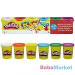 Hasbo Play-Doh Alapszínek gyurmakészlet, 4+2 tégelyes
