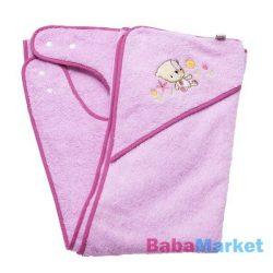 Clevamama babatörölköző rózsaszín mintás