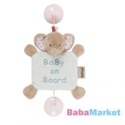 Nattou plüss Baby on Board Charlotte and Rose - Rose elefánt