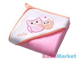 babatörölköző - babyOno fürdőlepedő 100*100cm 138/01 rózsaszín