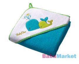 babatörölköző - BabyOno fürdőlepedő 100*100cm kék