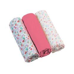 BabyOno textilpelenka színes 3db 382/05 rózsaszín