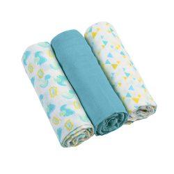 BabyOno textilpelenka színes 3db 382/06 kék