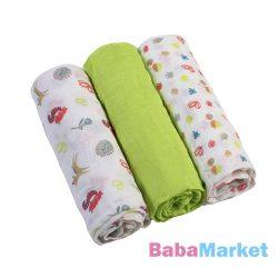 BabyOno textilpelenka színes 3db 348/01 zöld