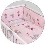 Ceba ágynemű huzat rácsvédővel 100x135 60x40cm Macskák pink