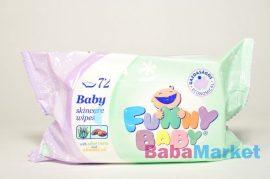 Funny Baby törlőkendő 72db-os