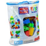 Építőjáték - Mega Bloks Klasszikus színű építőkockák táskában - 60db (DCH55)