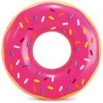 Intex: Rózsaszín cukros fánk úszókarika - 91 cm