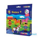 Playbox Gyöngykép figurák, 2000 db - lovak