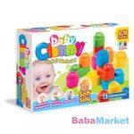 puha építőkocka babáknak- clemmy baby építőkockák 12db