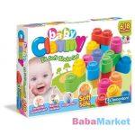 készségfejlesztő babajáték - clemmy baby puha kockák 24db