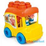Készségfejlesztő babajáték - Clemmy My Soft World - Iskolabusz építőkockákkal (14783)