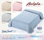 Belpla Baby Sweet perla babatakaró 80*110 dobozos 521 szürke