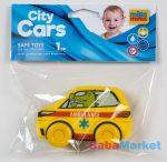 My First City Car rágóka - Ambulance sárga zacskóban