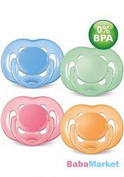 Avent légáteresztő játszócumi 6-18h 2db-os BPA mentes