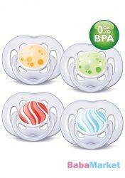 Avent mintás légáteresztő játszócumi 6-18h 2 db-os BPA mentes