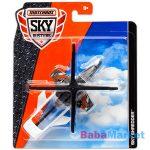 Matchbox: Repülő és kisautó - Bordó helikopter és rendőrautó