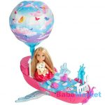 Barbie Dreamtopia Chealsea léghajóval DWP59