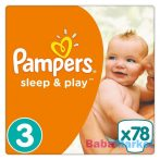 pampers pelenka - 3 midi 78 db