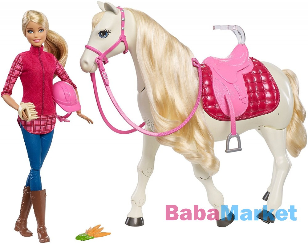 Mattel Barbie - DreamHorse - Barbie intelligens fehér lóval (FRV36)
